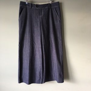 Ivy Jane | Chambray Denim Wide Leg Trouser Size 10